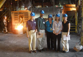 OEM on site in hardhats